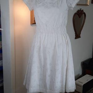 Theory Cotton blend lined Dress